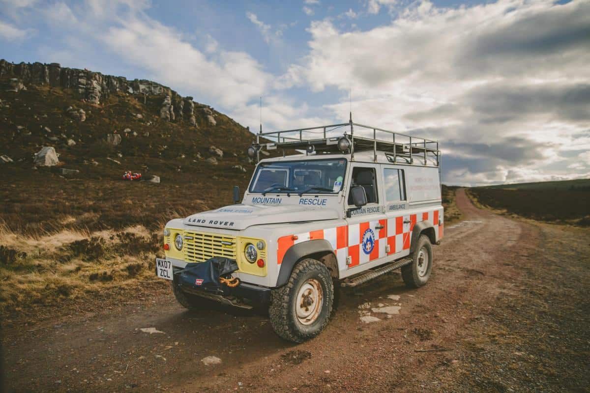 Mountain Rescue Land Rover